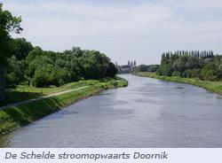 Schelde stroomopwaarts Doornik