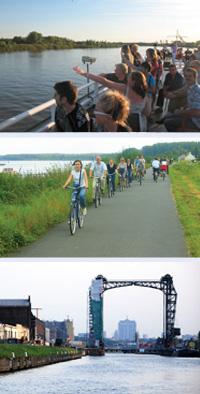 varen, fietsen en wandelen