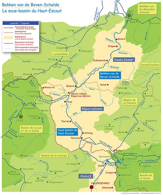 kaart Boven-Schelde