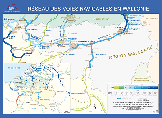 kaart Wallonië